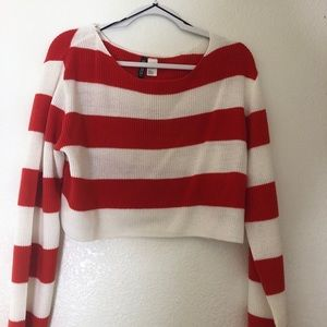 Never Worn H&M Orange Striped Sweater